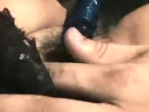 Overage milf toying her hairy ass hole