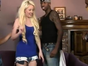 Huge boobs blondie woman dped by massive black schlongs