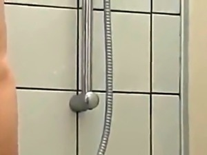 Hot wife sucks a cock and takes it doggystyle in the shower
