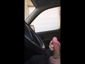 Dick flashing in car 17 - she looks
