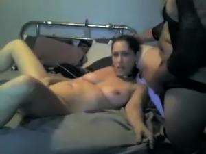Hardcore fetish sex scene with mature couple