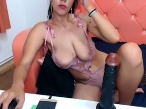 Indian amateur wife with huge boobs on webcam