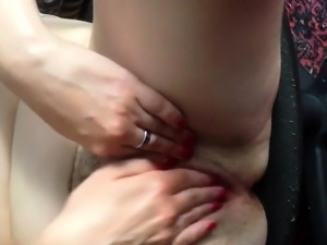 Russian BBW mature masturbation on chair