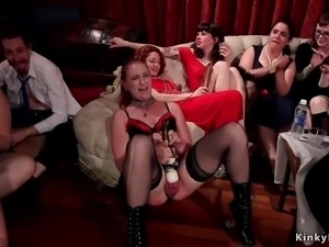 Anal and cunt orgy bdsm fucking
