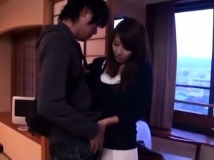 Petite Asian wife with small tits gets drilled by her lover