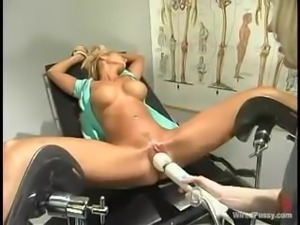 Spectacular Blonde Tied and Toyed Kinkily by Nurse in Lesbian BDSM