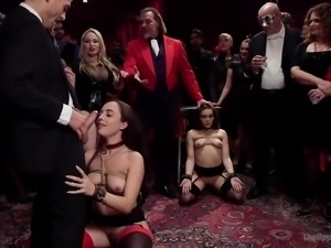 Brutal mouthfuck for lusty bondage whore Aiden Starr is must watch