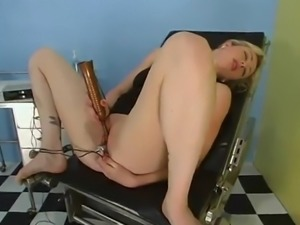 Blonde Masturbating at Gynecologist Gets Dominated and Toyed by Doctor