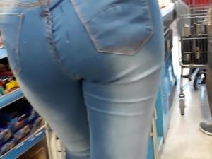 Double cum syrenge on supermarket