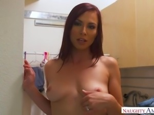 Long legged housewifely babe Aidra Fox gets fucked missionary and doggy