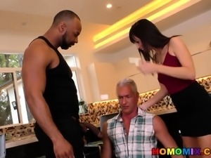 Cheating husband fucked by her Wife's gay personal trainer