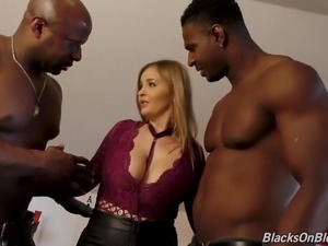 Butthole along with pussy of Candy Alexa are stretched by BBC owners