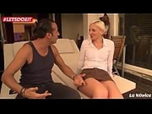 LETSDOEIT - French Milf Gets Both Holes Stretched by Casting Agent