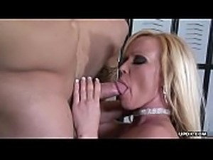 Astonishing blonde, Austin Taylor got hammered in the locker room
