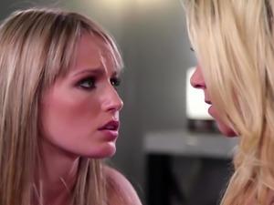 Milf Katie Morgan licking Scarlett Sage teen pussy