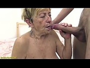 sexy hairy 90 years old granny banged by her toyboy