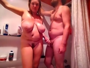 Black Ex With Big Boobs Sucking In Shower And Doggystyle