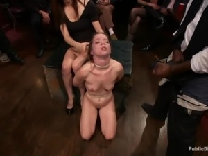 Jessi Palmer gets chained and fucked hard by a group of people