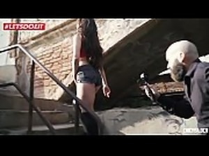 LETSDOEIT - Horny Teen Gets Fucked in An Abandoned Building (Jade Presley)