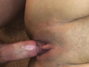 Fat cock makes pussy squirt