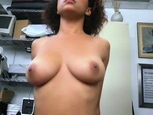 Afro chick gags on big black cock