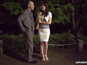 Japanese housewife, Noeru Mitsushima is dating and fucking m