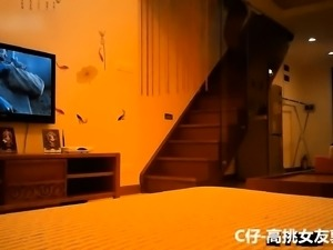 Pantyhosed Asian wife indulges in hardcore sex on hidden cam