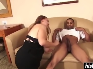 Tia plays with a big black cock