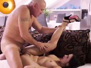 Old couple fuck young and tickling Rough hump for