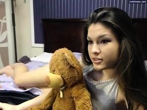 Sexy hottie Anetta Keys enjoys a solo toy masturbation
