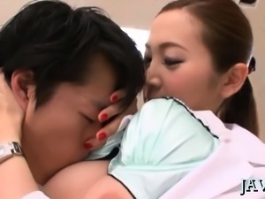 Stunning japanese model gets wild and gives a sexy oral