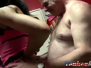 Fat man fuck young whore
