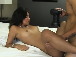 Voluptuous brunette floosy Kasey Warner gets fucked good