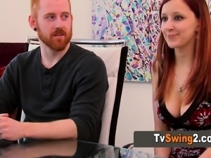 Swinger redhead babe loves to be naked.