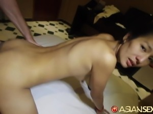 Asian Sex Diary - Asian babe gets hairy pussy creampied
