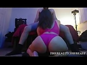 Hot Floor Wide View Of Big Booty Latina Sucking Hairy Man&#039_s Cock Thong...