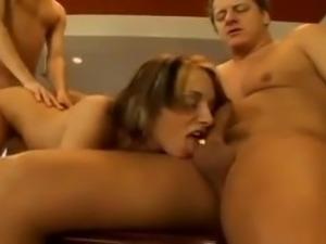Double penetration on the billiard table
