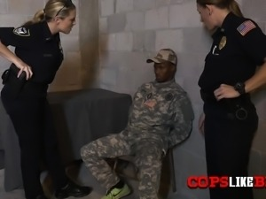 Soldier is taken to warehouse for sex