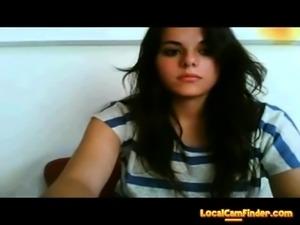 Beauty teen in cam