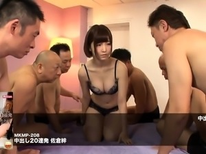 Adorable Japanese babes getting banged rough and creampied