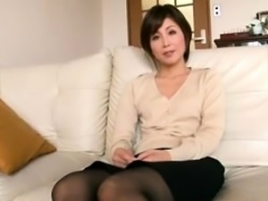 Beautiful Japanese wife fulfills her fantasy with two guys