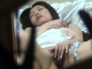 Small asian teen rubbing