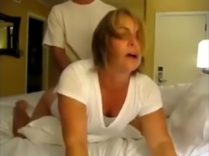 Desperate Amateur Wife Pleasing Her Co-Worker In Hotel Room