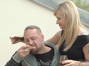 DADDY4K. Boyfriend finds his dad and girlfriend making dirty