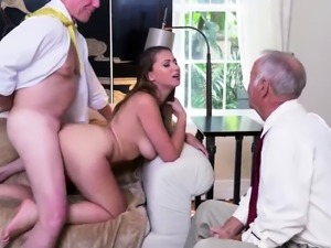 Old mature hardcore Ivy impresses with her thick boobs