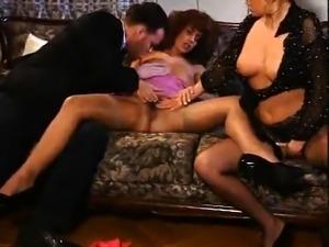 Peek A Boo Lingerie Wearing Slut Has Hardcore Threesome