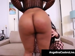 Black Babe Yummy Gets Pounded By BBW StrapOn Angelina Castro
