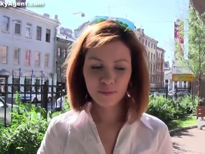 Cute redheaded european is pussy pounded