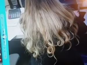 Cumming on a picture of my coworkers beautiful hair