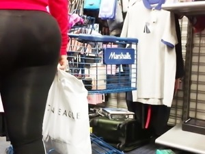 Cute Bubble Booty Vpl Latina in See-thru Spandex